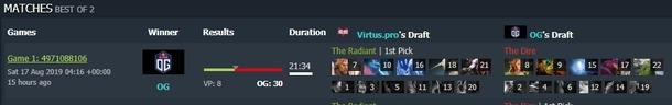 Начнем с первой карты Virtus.Pro против OG