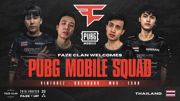 FaZe Clan по PUBG Mobile. Источник: twitter.com/FaZeUpdate