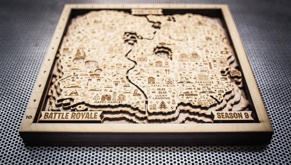 Фанат Fortnite создал карту девятого сезона из дерева