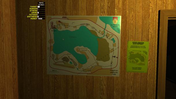 Карта тут только в доме, так что лучше её выучить, чтобы не заблудиться:)