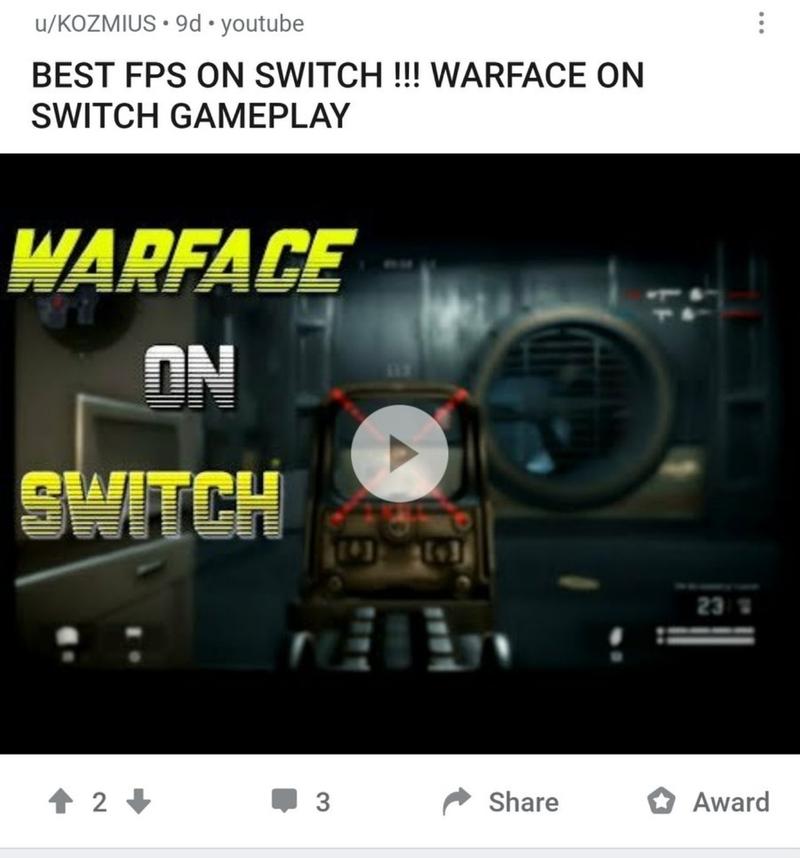 «Лучший шутер на Switch!»