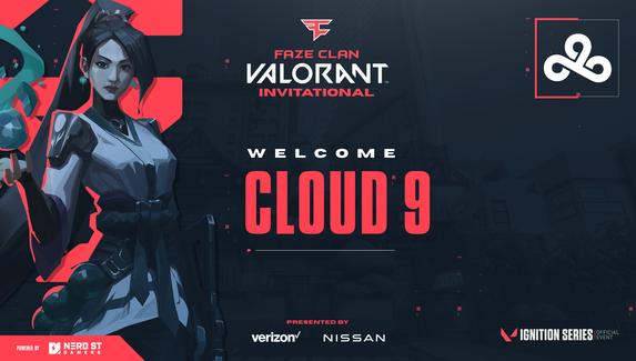 Cloud9 поучаствует в турнире по Valorant от FaZe Clan