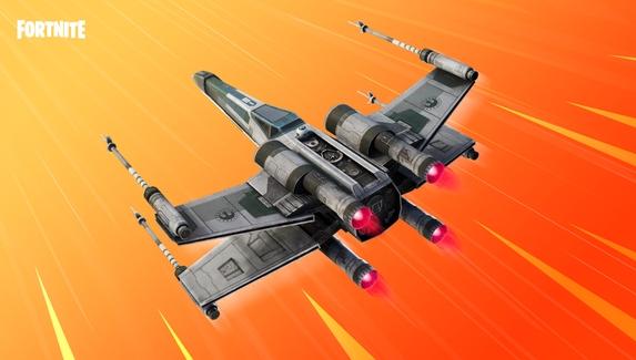 В Fortnite появился истребитель X-Wing из «Звездных войн»