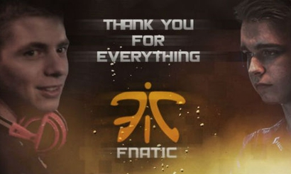 Fnatic прощаются с Zanster и Ignite