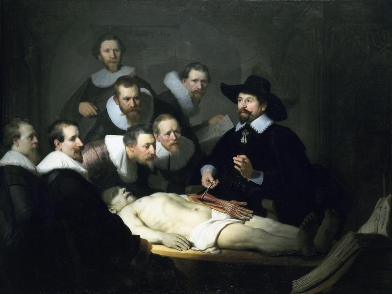 Рембрандт, «Урок анатомии»