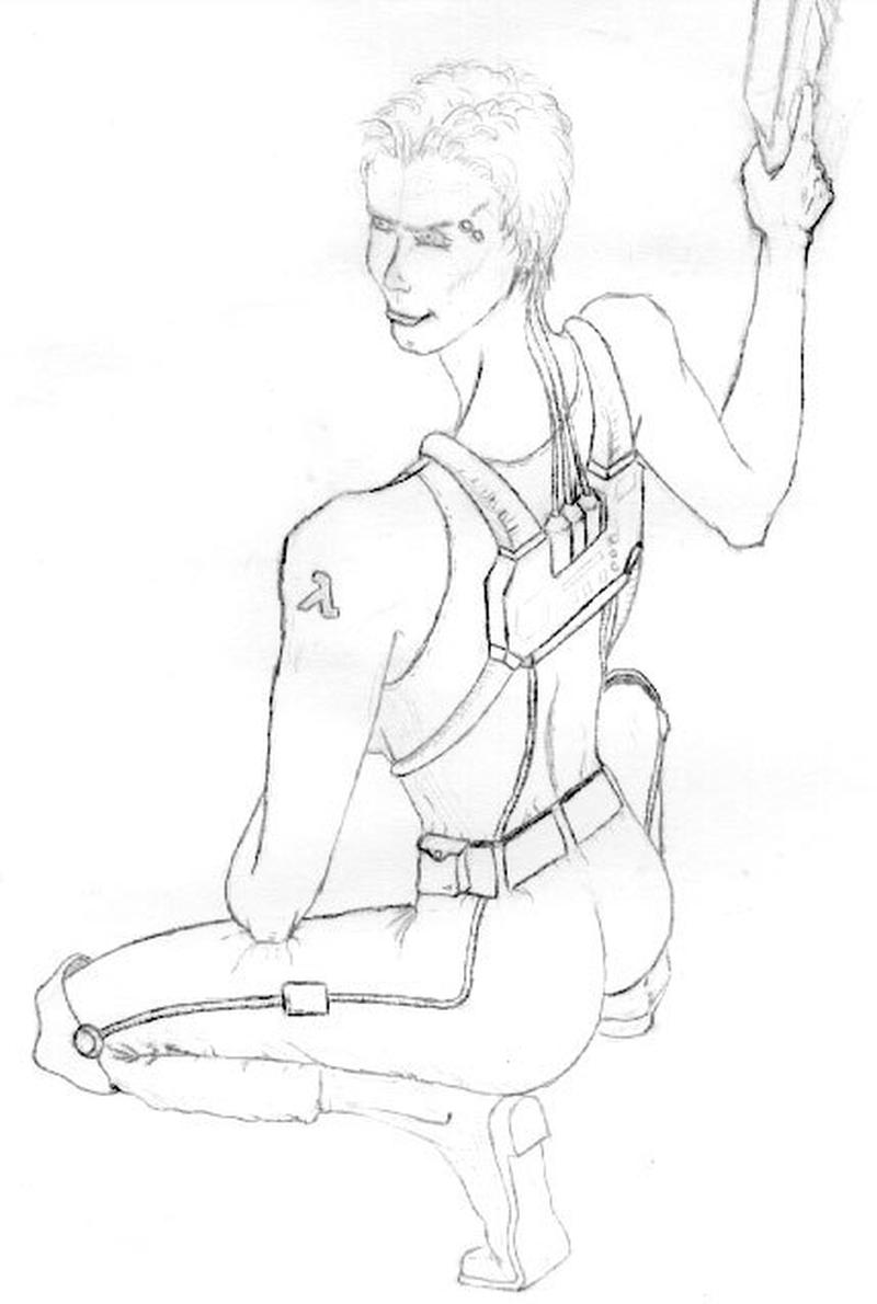 Еще один персонаж Prospero, Миранда. Обратите внимание на татуировку с лямбдой на плече девушки