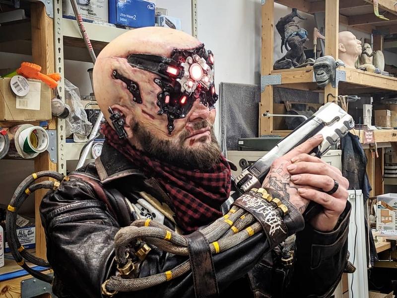 Косплей на Royce из Cyberpunk 2077. Модель: Ларри Гастингс. Источник: instagram.com/vultureproductions