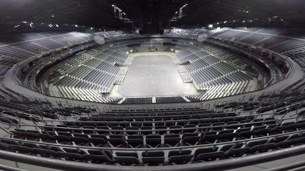 Lanxess-Arena изнутри.