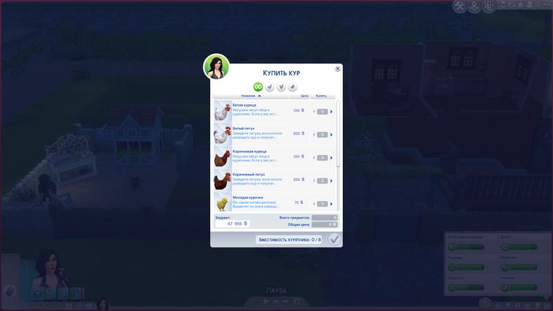 Покупка кур   The Sims 4, «Загородная жизнь»