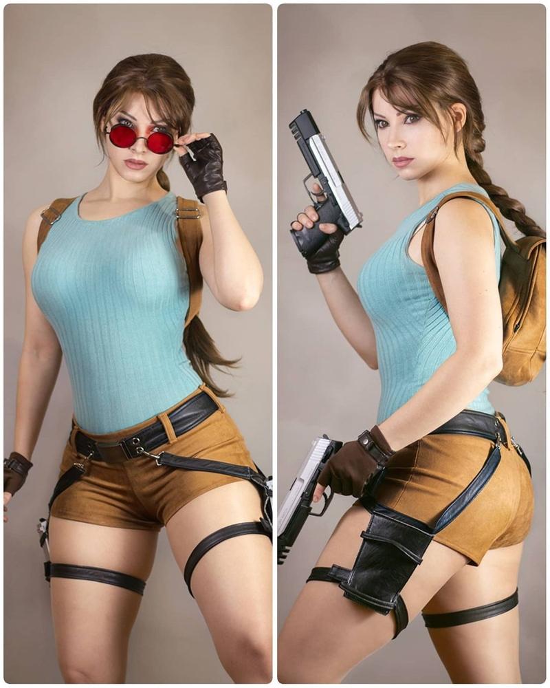 Косплей на Лару Крофт из Tomb Raider. Косплеер: Enji Night. Источник: instagram.com/enjinight.