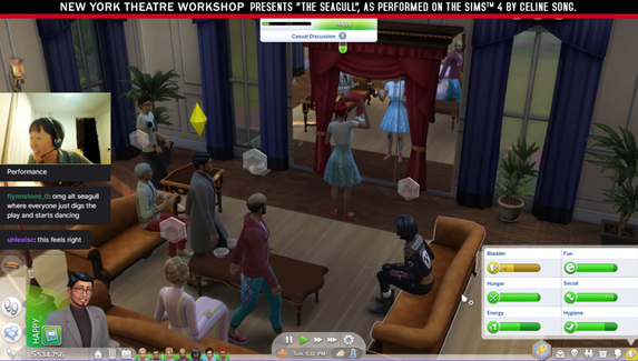 «Чайку» Чехова поставили в The Sims 4