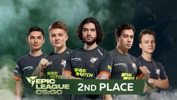 Virtus.pro занимает 2 место на EPIC CIS League Spring 2021