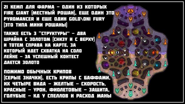 Карта основного режима игры и режима всех киберспортивных событий