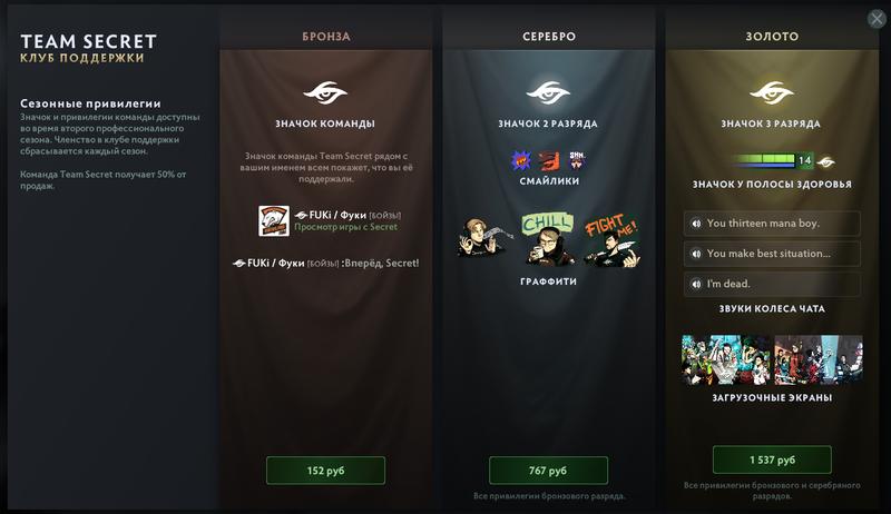 Командные наборы в Dota 2