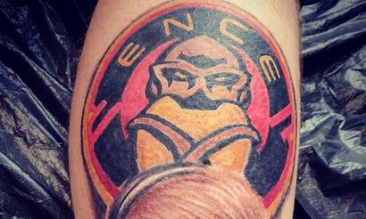 Финский кастер сделал татуировку с лицом Aleksib и логотипом ENCE