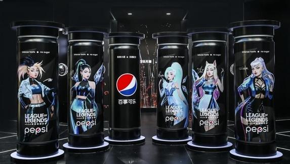 Участницы группы K/DA из League of Legends появились на бутылках Pepsi
