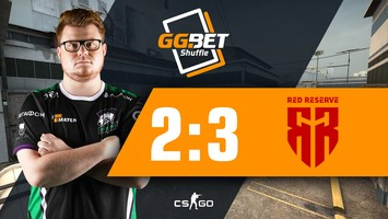 Virtus.pro defeated by Red Reserve in GG.BET Shuffle final
