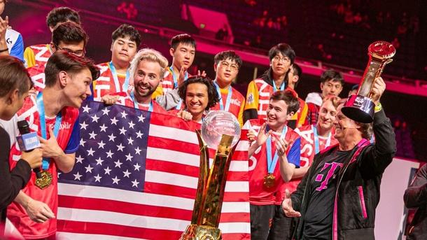 Сборная США на Overwatch World Cup 2019   Фото: twitter.com/USAOWWC