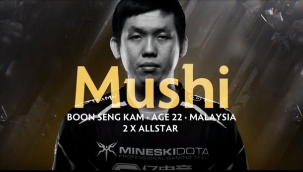 Профиль Mushi времен выступления за Mineski на TI8.