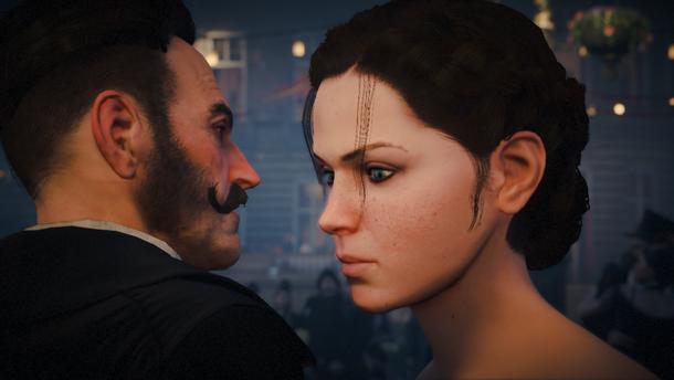 А еще, первое взаимодействие Фрайев с антагонистом, почему-то происходит только в самом конце игры, во время бала.