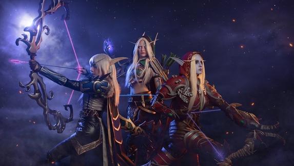 Ветрокрылые сестры — косплей на Аллерию, Сильвану и Верису из World of Warcraft