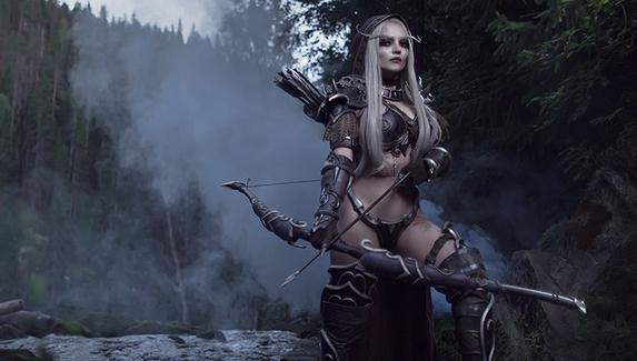 Тёмная Госпожа — косплей на Сильвану Ветрокрылую из World of Warcraft