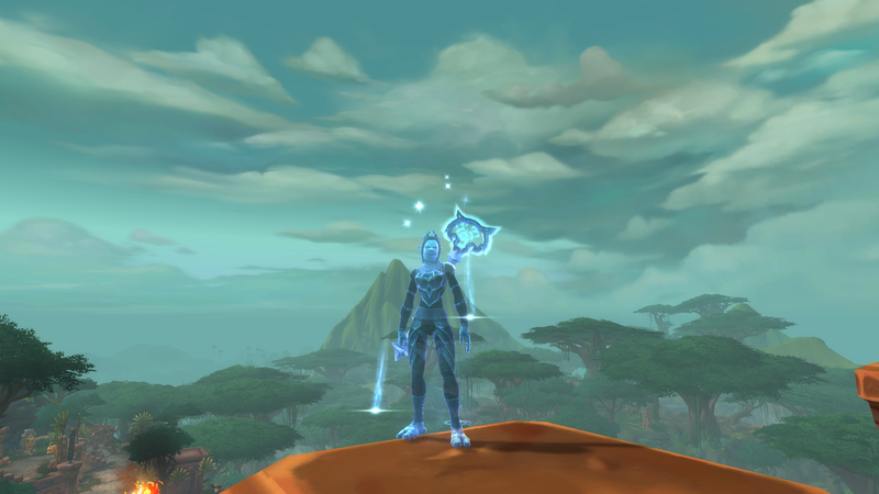 Тролль-друид из World of Warcraft