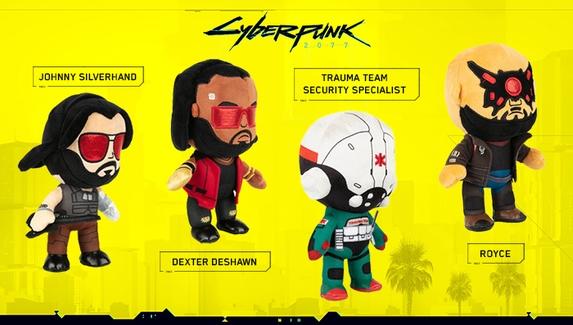 Вышла коллекция плюшевых героев Cyberpunk 2077