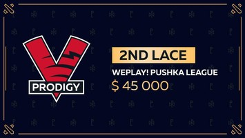 VP.Prodigy takes 2nd place in WePlay! Pushka League