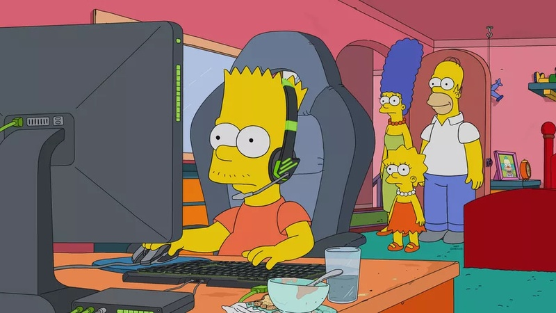 Барт Симпсон — киберспортсмен