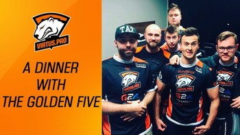 Virtus.pro in Katowice. A dinner with the Golden Five