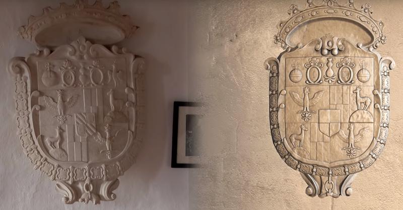 Гербы на стенах