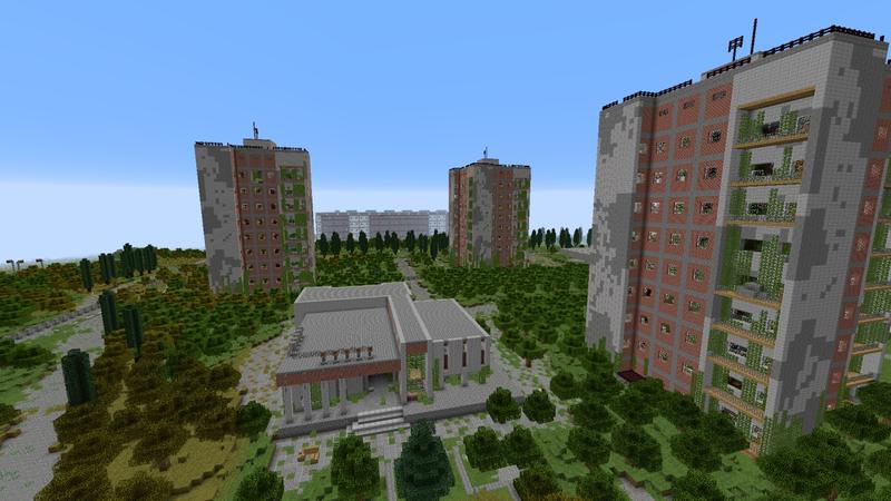 Чернобыльская АЭС в Minecraft. Источник: planetminecraft.com