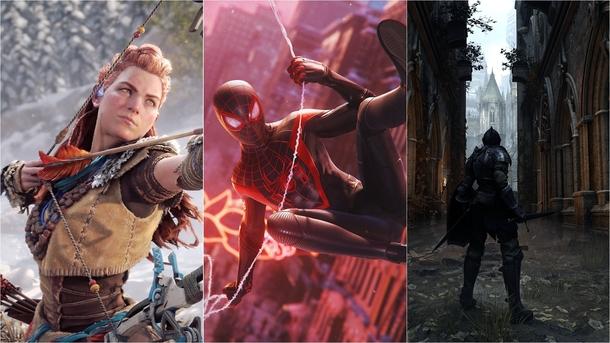 Horizon Forbidden West, Marvel's Spider-Man: Miles Morales и Demon's Souls. Источник: Sony
