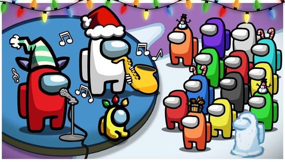 Игроки воспроизвели рождественскую мелодию с помощью звуков  из Among Us