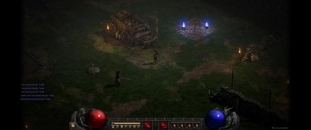 Виньетка при игре в Diablo II: Resurrection на ультрашироком мониторе