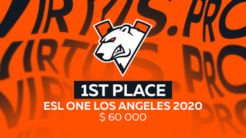 Virtus.pro выигрывает ESL One Los Angeles 2020 Online: Europe & CIS