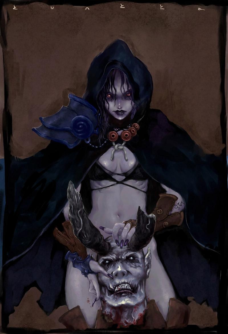 Ранний арт Kunkka: Сильвана Ветрокрылая из Warcraft 3 (2003)